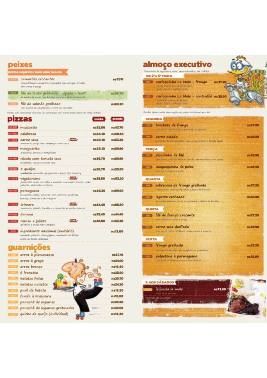 Menu do restaurante La Mole (Freguesia) - Página 1