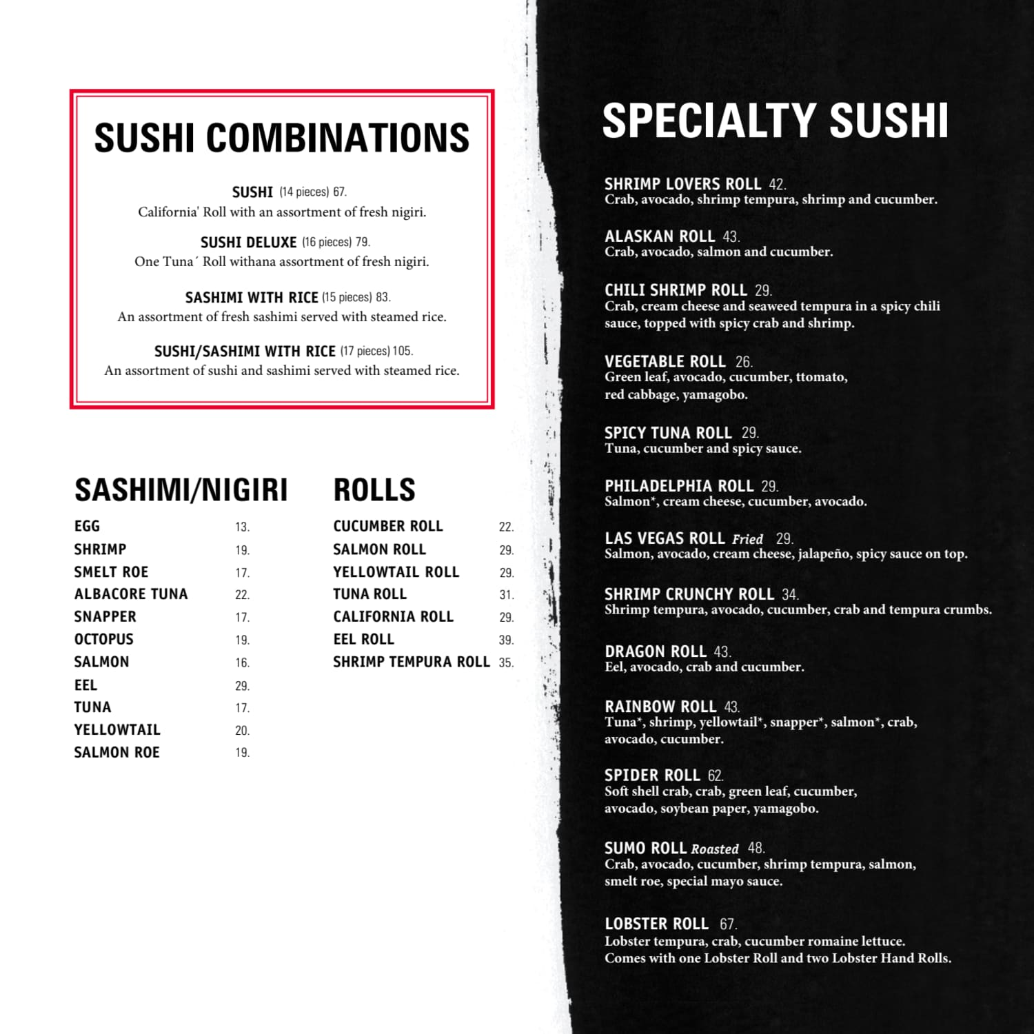 Menu do restaurante Benihana - Página 11
