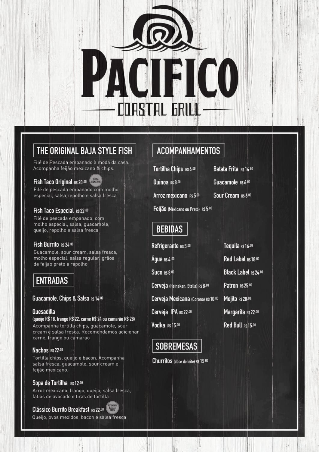 Menu do restaurante Pacifico Coastal Grill - Página 2