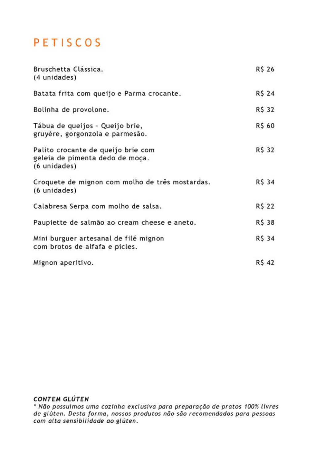 Menu do restaurante JClub - Página 2