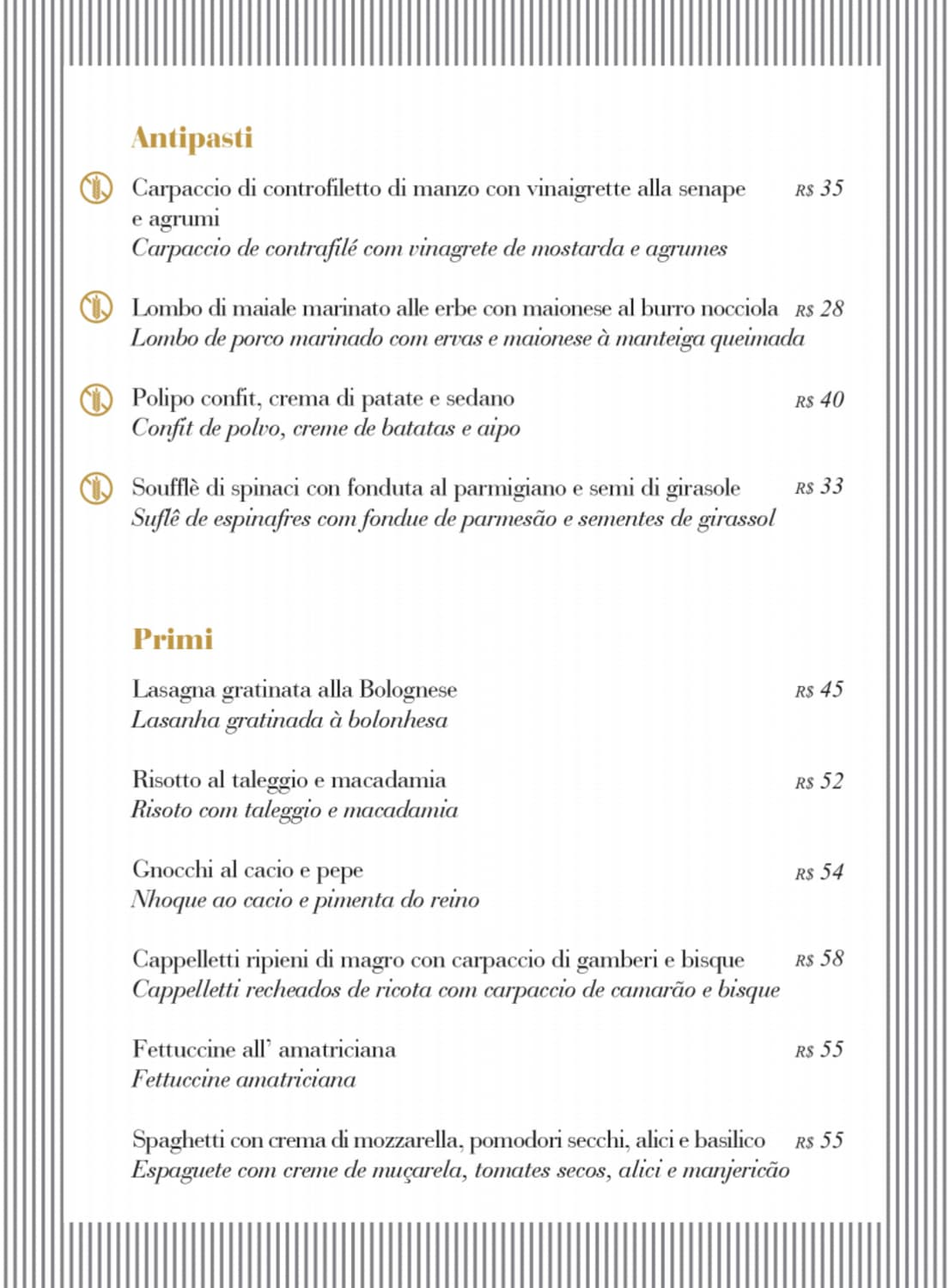 Menu do restaurante Simon Boccanegra - Página 2