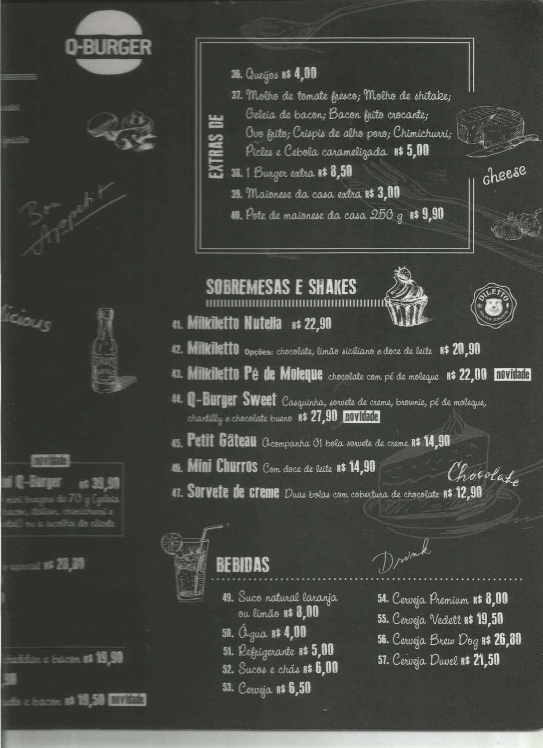 Menu do restaurante Q-Burger (Higienópolis) - Página 2