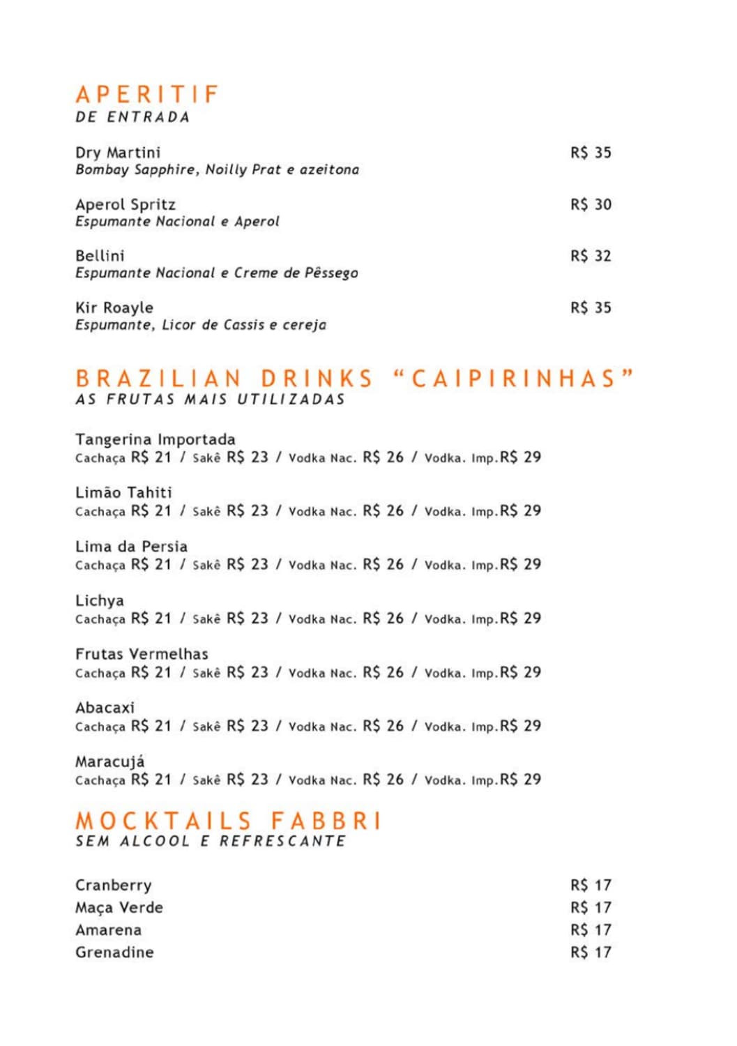 Menu do restaurante JClub - Página 3