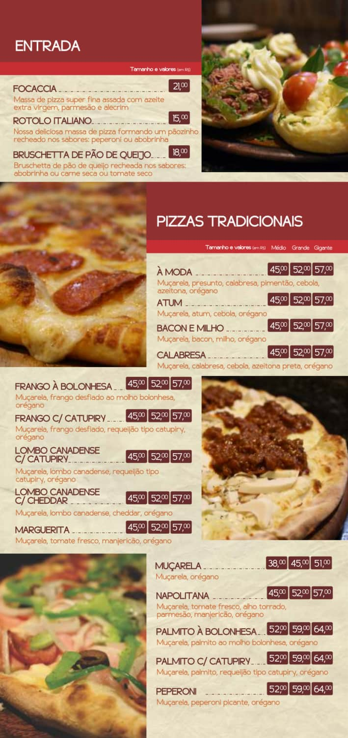 Menu do restaurante Bravíssimo Forneria - Página 3