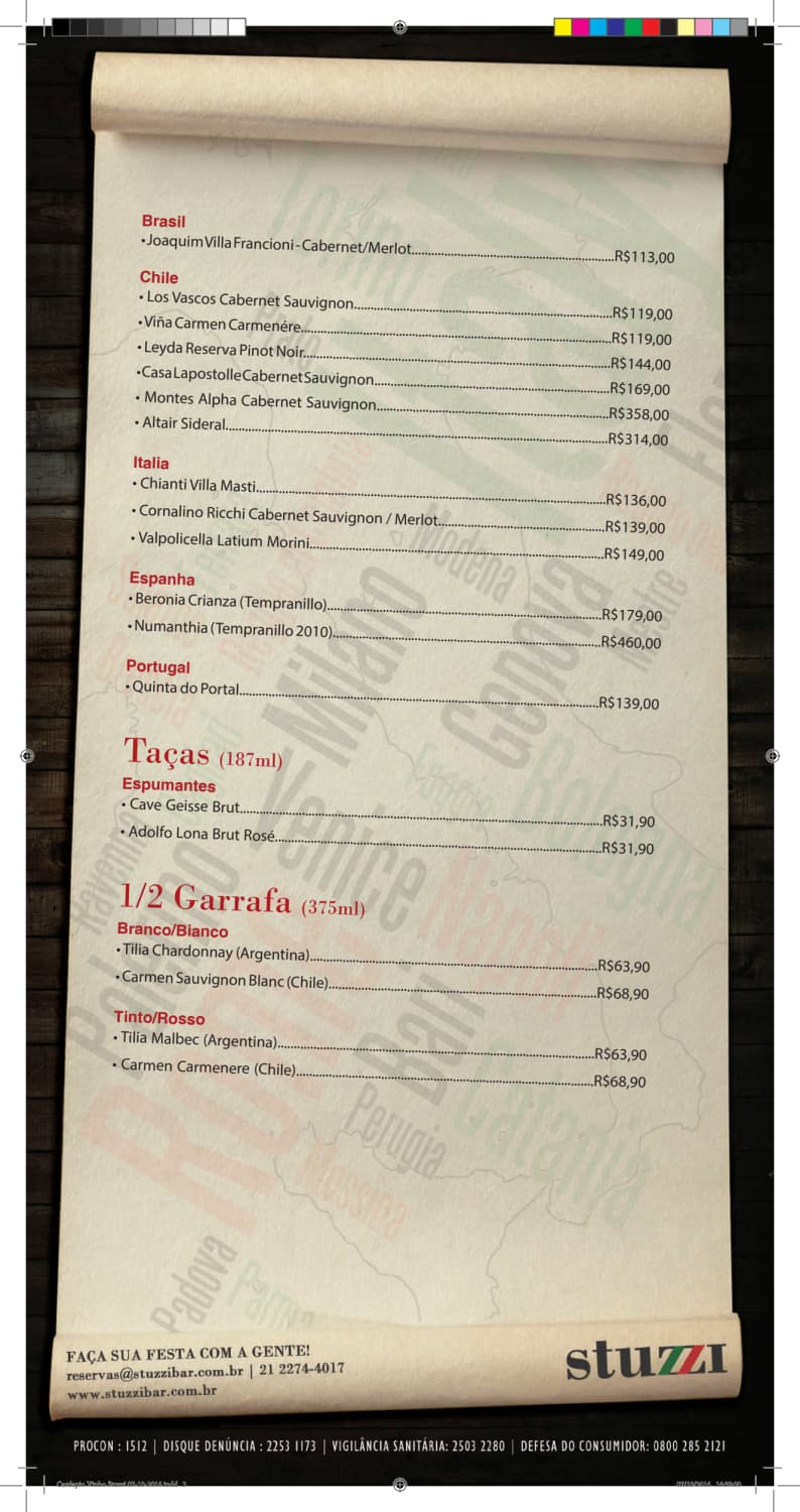 Menu do restaurante Stuzzi Bar - Página 4
