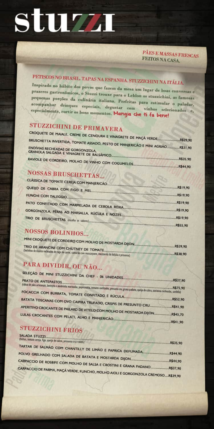 Menu do restaurante Stuzzi Bar - Página 5