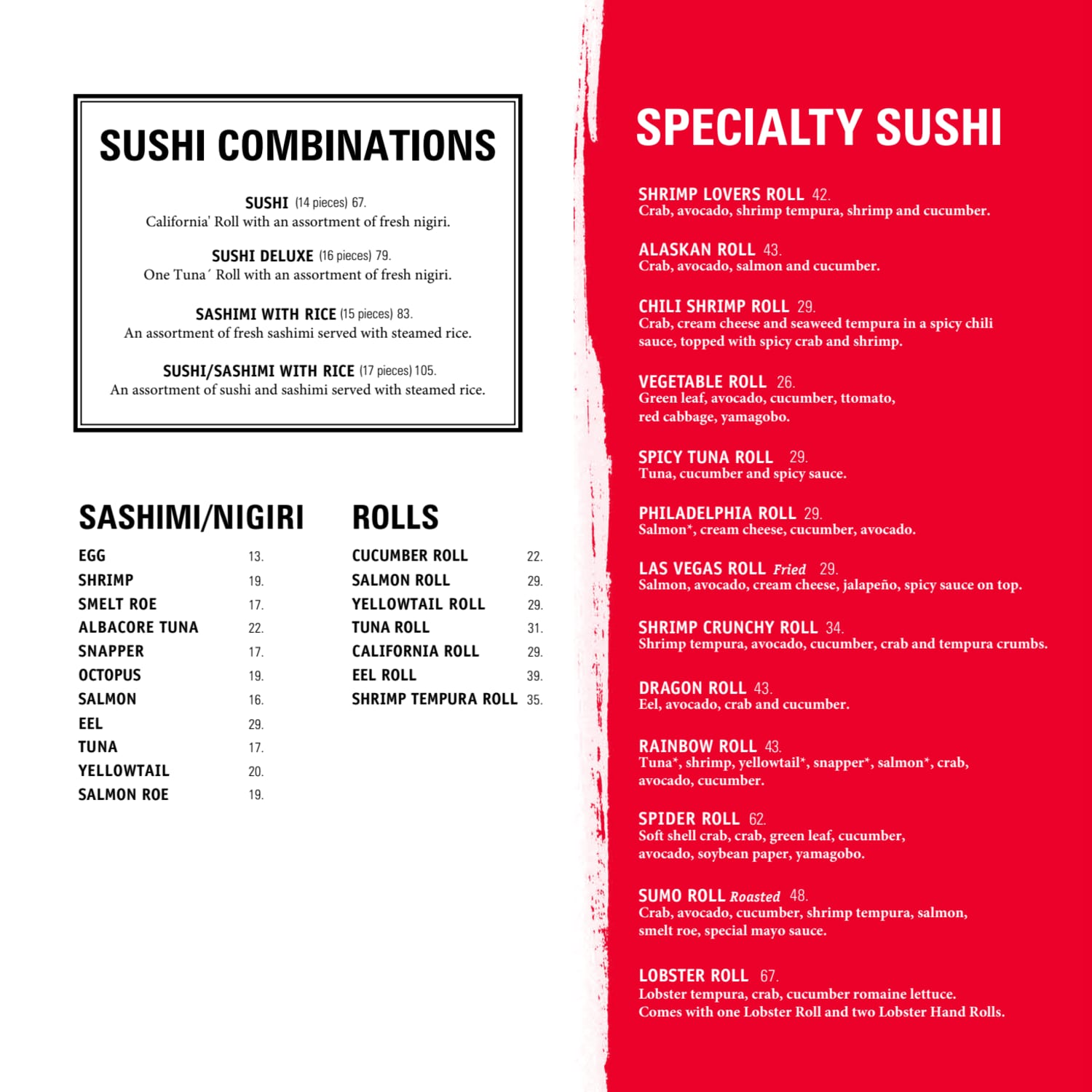 Menu do restaurante Benihana - Página 5