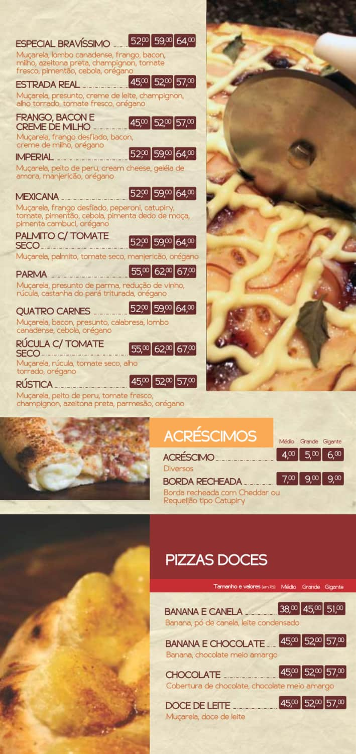 Menu do restaurante Bravíssimo Forneria - Página 5